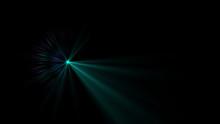 Bright Cyan Lens Flare