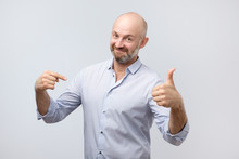 Man Proud Of Himself Over Gray...