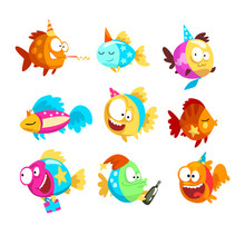 Funny Fishes Set, Little Color...