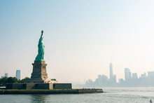 Liberty Island And Liberty Statue View In New York City