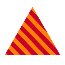 Striped Cone Illustration Background