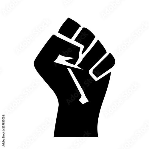 Fotografiet Fist symbol icon