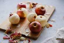 Peeling Red Apples For Cooking...