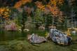 Myojin Pond in Kamikochi in Autumn, Japanese Alps, Chubu Sangaku National Park
