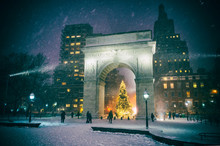 Winter Holiday Night View Of T...