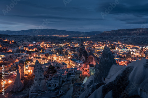 Fotografie, Obraz  Cappadocia goreme village night view