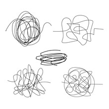 Scribble Hand Drawn Circle Object Set Black Line