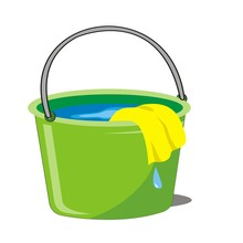 Water In The Bucket And Wipe The Cleanser