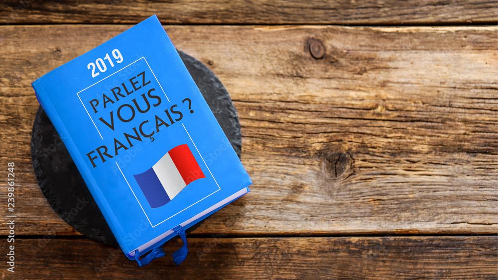 Photo Art Print Livre Dictionnaire Parlez Vous Francais