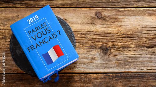 Obraz livre dictionnaire : parlez-vous français ? - fototapety do salonu
