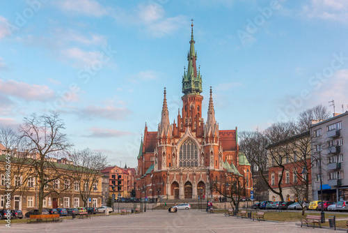 Fototapeta St Joseph Church - a historic Roman Catholic church in south-central part of Krakow, Poland obraz