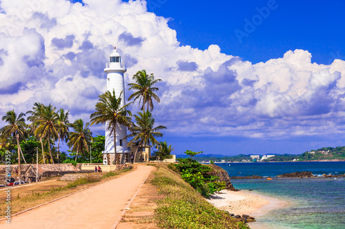 Landmarks of Sri - Lanka - lighthouse in Galle fort, south of island