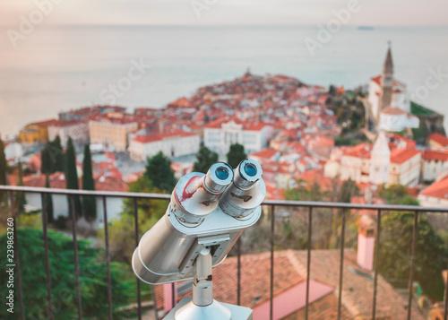 Fotografía  Touristic telescope for panoramic view
