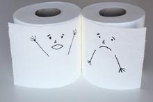 Two White Toilet Paper Rolls S...
