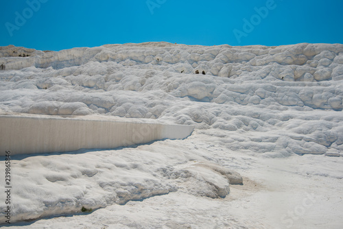 Valokuva  Panoramic view of Pammukale near modern city Denizli, Turkey