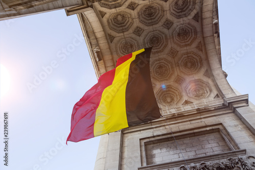 the flag of belgium in brussels
