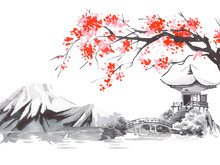 Japan Traditional Sumi-e Paint...