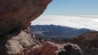 Beautiful view of tenerife from the volcano Teide