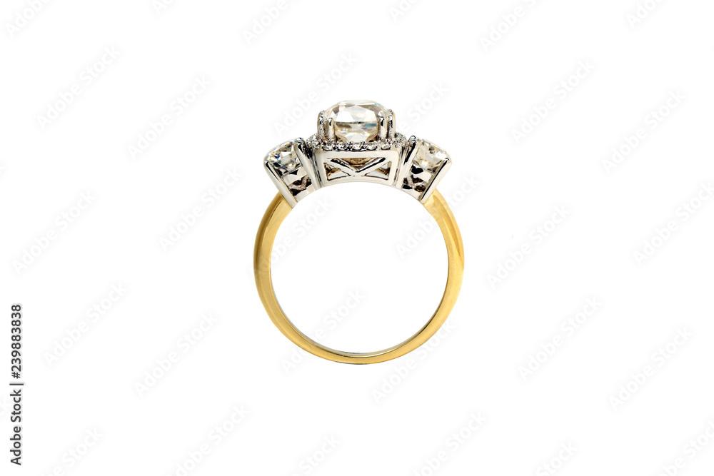 Fototapety, obrazy: Diamond Ring Isolated on White Background