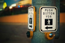 Push Button For Crossing Street