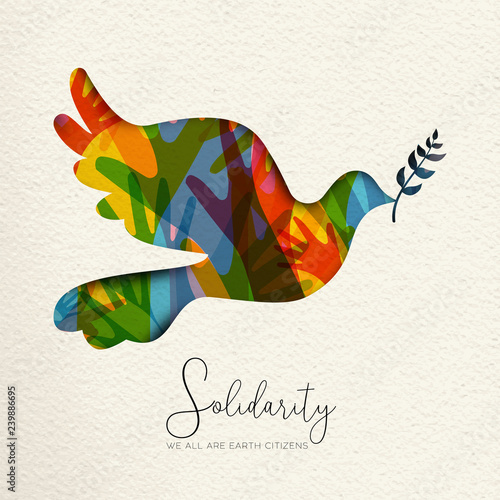 Billede på lærred International Human Solidarity Day illustration