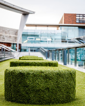 Green Seating Area At Liverpool One Shopping Center In Liverpool, United Kingdom