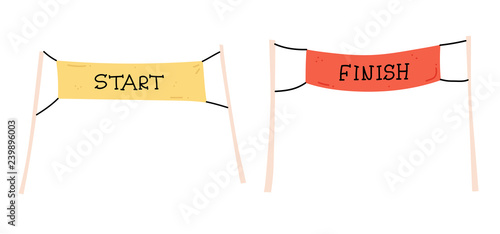 Fotomural start and finish banner