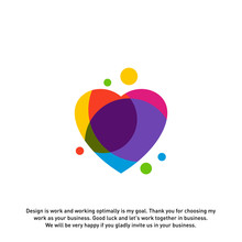 Love Heart Creative Logo Conce...