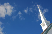 Church Steeple With Clouds In ...