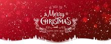 Christmas And New Year Typogra...