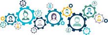 Network Of People - Social Network / Teamwork / Customer Relationships