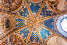 Ceiling Of The Primate Cathedral Of Saint Mary In Toledo, Spain.
