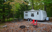 Camping In Camper Trailer In W...