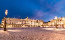 Place Stanislas Nancy Frankreich Bei Nacht