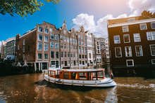City Of Amsterdam In Holland P...