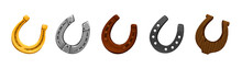 Vector Set Of Icons Horseshoes...