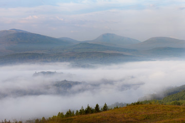 Morning mist at Loch  Garry, Scotland