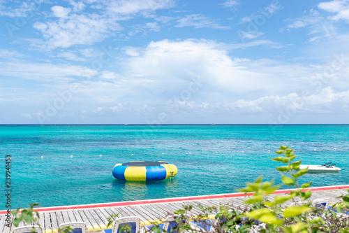 Fototapeta  Clear and sunny Summer's day on an island