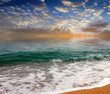 beautiful sea beach and summer sunny sky