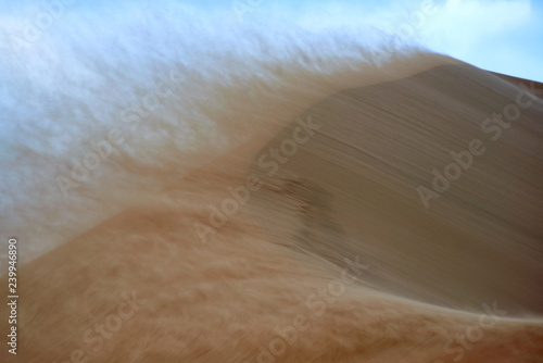 Sandstorm in desert. Sandstorm in the dunes. Canvas