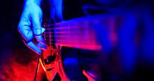 Rock Concert. Guitarist Plays ...