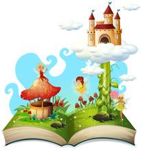 Open Book Fairy Tale Theme