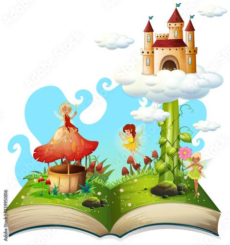 Otwórz książkę temat bajki