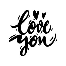 I Love You. Hand Drawn Vector ...