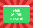 Leinwanddruck Bild - Conceptual hand writing showing Year Of The Rooster. Business photo showcasing Chinese horoscope China traditional celebration Monitor Screen with Progress Control Bar Blank Text Space
