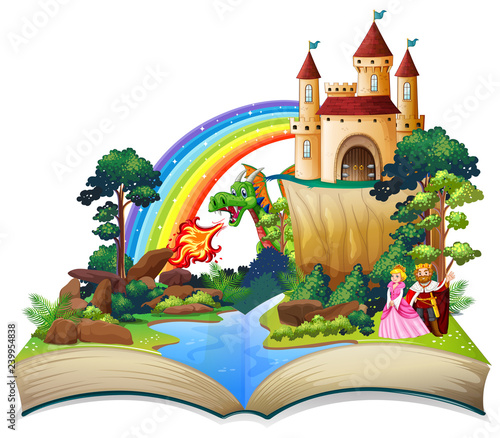A fairy tale open book
