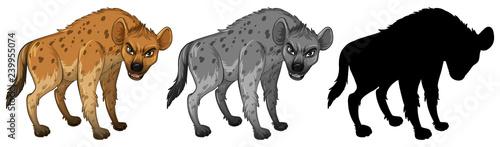 Fotografia, Obraz Set of hyena character