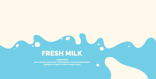 Modern Poster Fresh Milk With ...