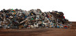 canvas print picture - pile of garbage isolated on white background
