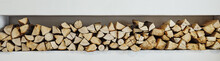 Wall Firewood, Background Of D...
